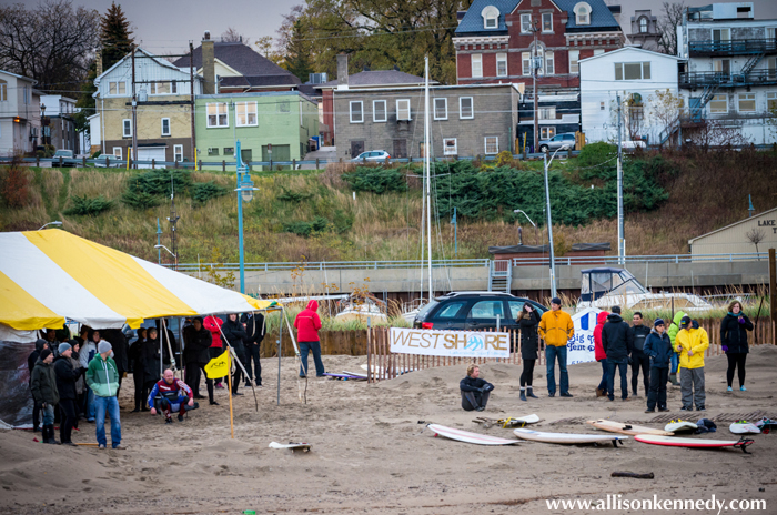 A sizeable crowd of spectators and supporters came out too. Everyone kept warm in a tent provided by Big Top Tent Rentals. A pumping heater and hot coffee were available inside.