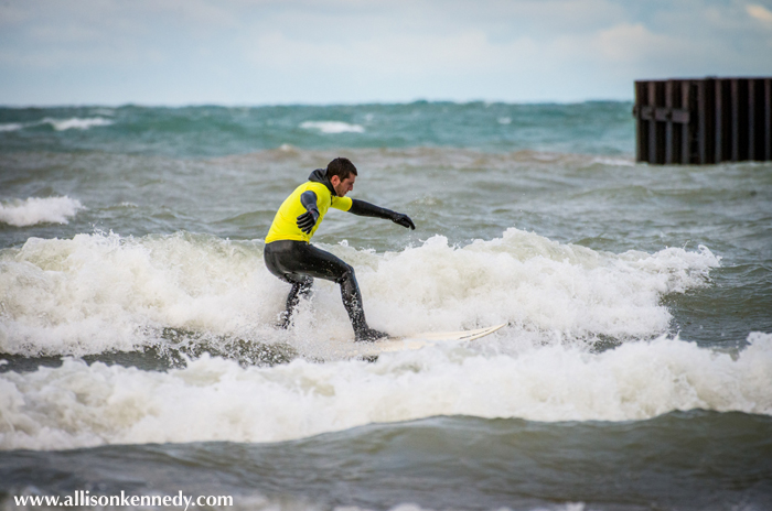 Wasaga Beach's Josh Madryga made the Shortboard final.