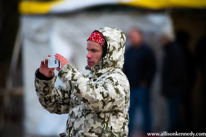 Great Lakes Surfer's James Carrick braved the cold to post heat by heat results for online followers.