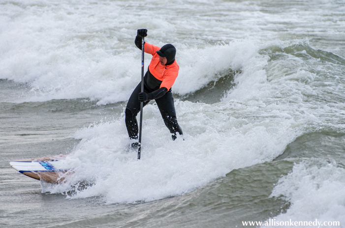Ariel Amaral battles it out in the SUP division.