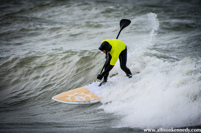 West Shore's Ashley Adams competed in the SUP division.