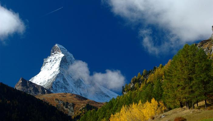 The Matterhorn above Zermatt.