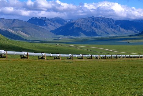 North Slope crude oil travels 800 miles through this pipeline