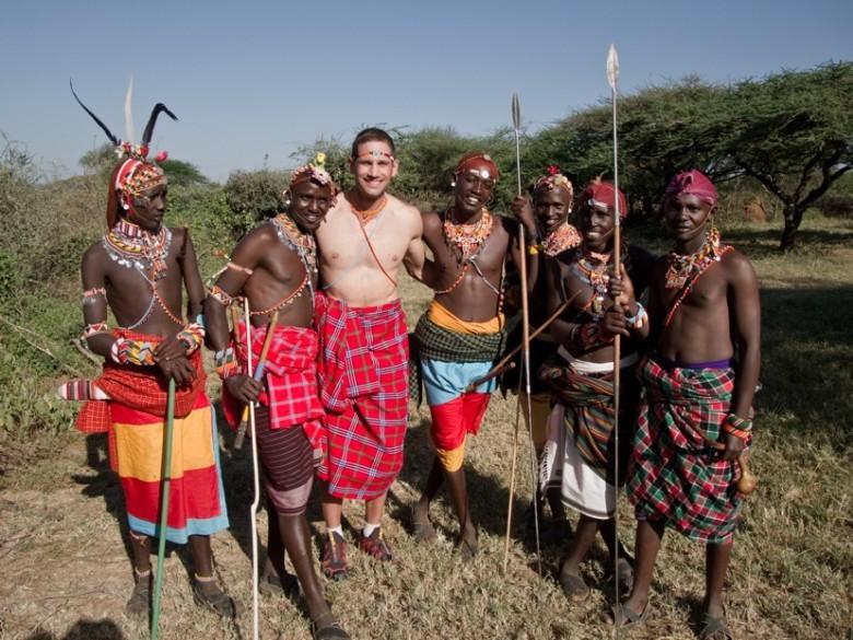 Donato in Kenya. Photo courtesy Travel+Escape.