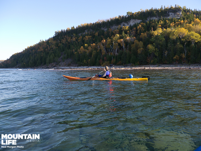 David Loopstra near Cabot Head, Bruce Peninsula. Photo by Ned Morgan.