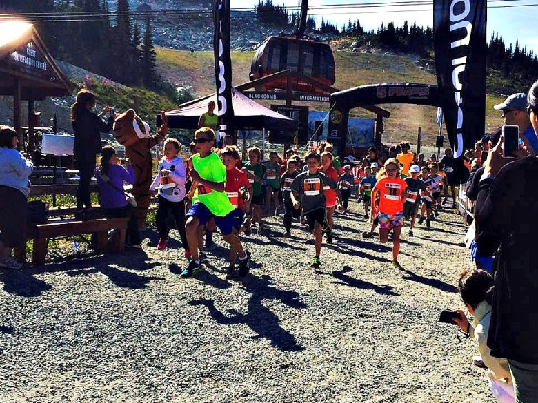 The start of the 5K race. Photo courtesy Whistler Blackcomb.