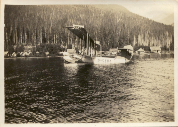 First aircraft to land on Alta Lake 1923. Photo courtesy Whistler Museum.