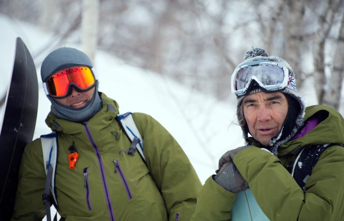 Taro Tamai (l) and Gerry Lopez. Photo courtesy Patagonia.