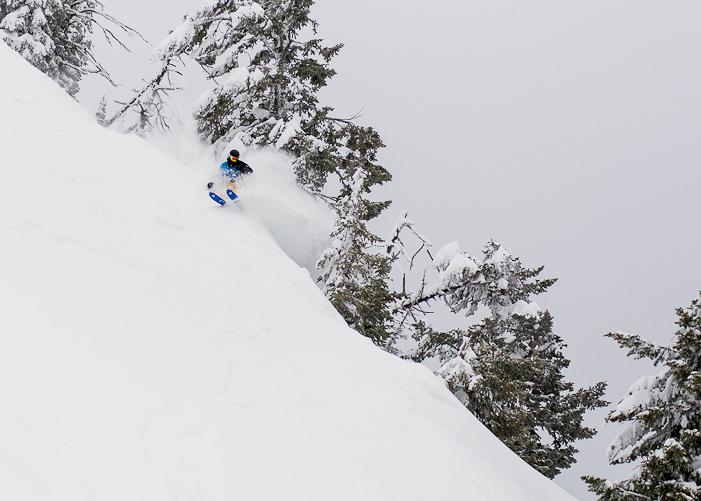North Face athlete Caleb Brown at Fernie Alpine Resort. Photo by Abby Dell/courtesy Fernie.