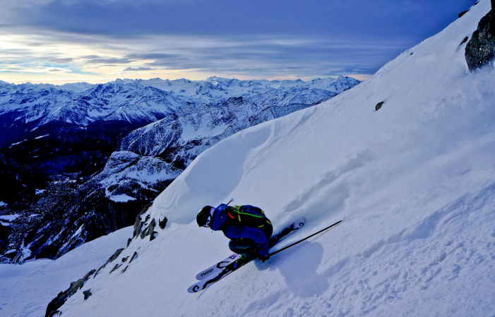 Drew Tabke on the Helbronner during last year's FWT. Photo courtesy EddieBauer.com