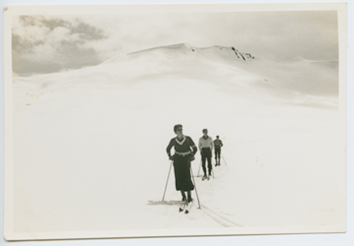 Caption 1: Members of the 1939 George Bury expedition explore Garibaldi Provicial Park's vast alpine expanses. Courtesy Whistler Museum.