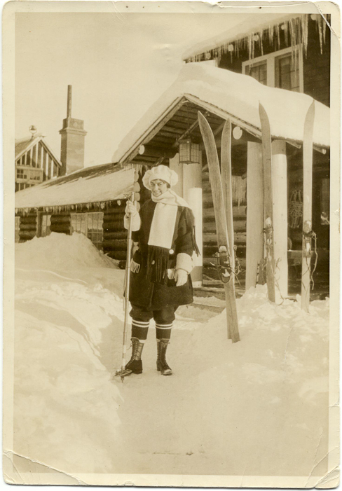 Another Rainbow Lodge guest. Courtesy Whistler Museum.