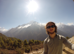 Dylan Sartor texted his dad this photo last week, saying he would be trekking to Everest base camp over the weekend. (Submitted by Raymond Sartor/courtesy CBC.ca)
