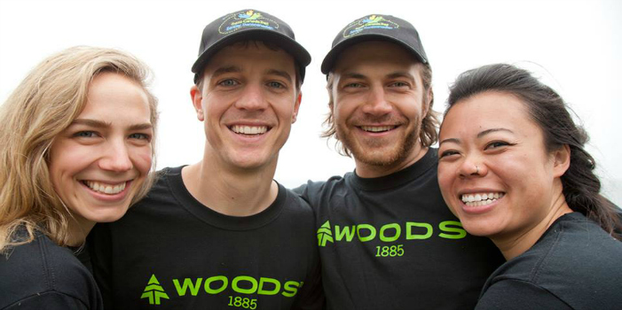 The winners. Photo courtesy Woods Canada.