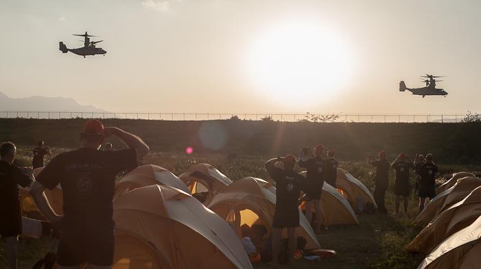 Day 5: UN Base, Kathmandu airport. SHAUN MADIGAN PHOTO.