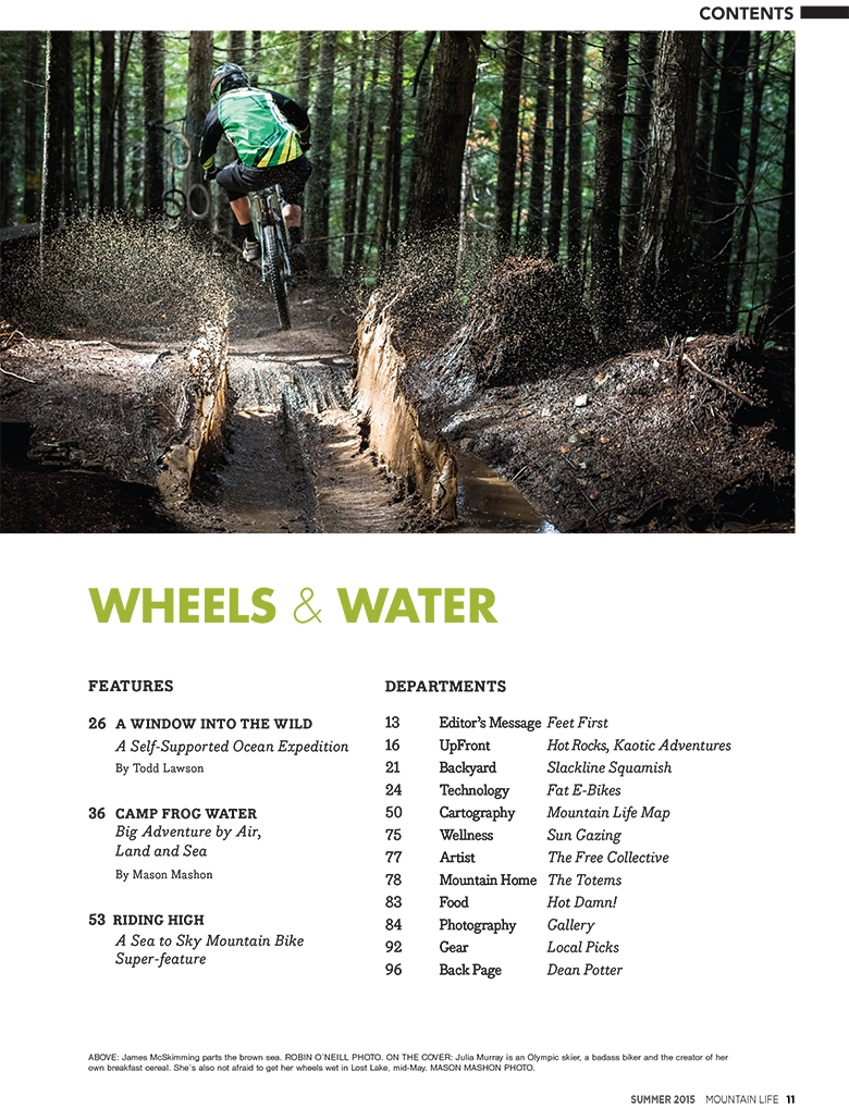 Table of Contents. ROBIN O'NEILL PHOTO