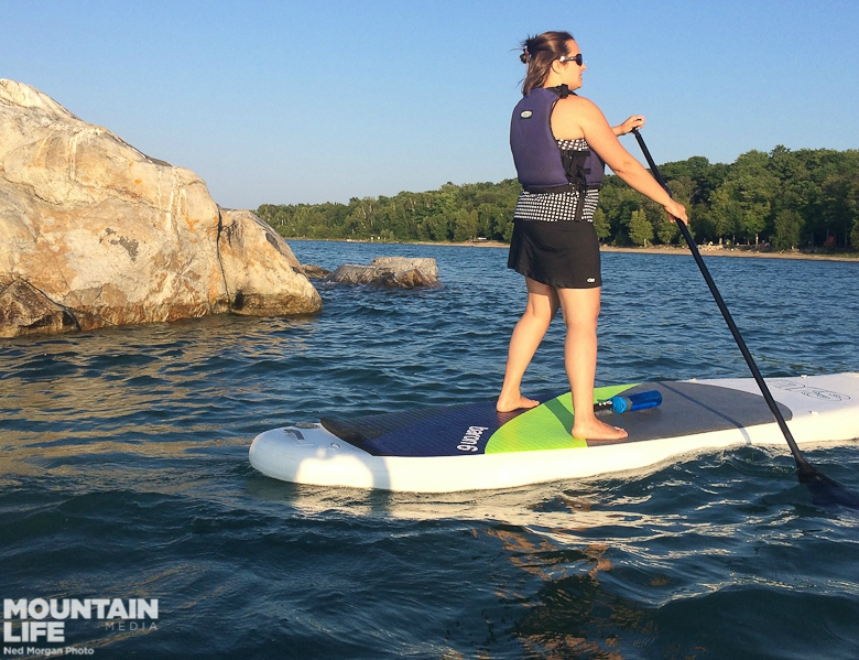 Paddling the Homewaters on the NRS Baron 6 inflatable.