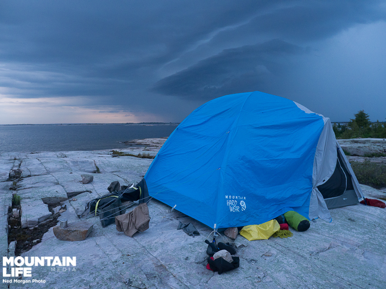 The Optic 6: a secure basecamp tent when bad weather looms.