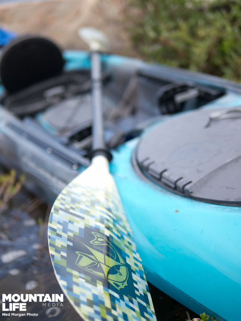 We demoed the Tarpon 160 with Adventure Technology's paddle.