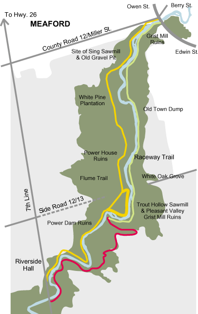 The Trout Hollow trail, where you can hike past the site of Muir's cabin.