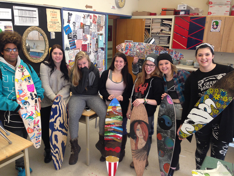 CCI students with their Roarockit boards. Photo by Michelle Markson.