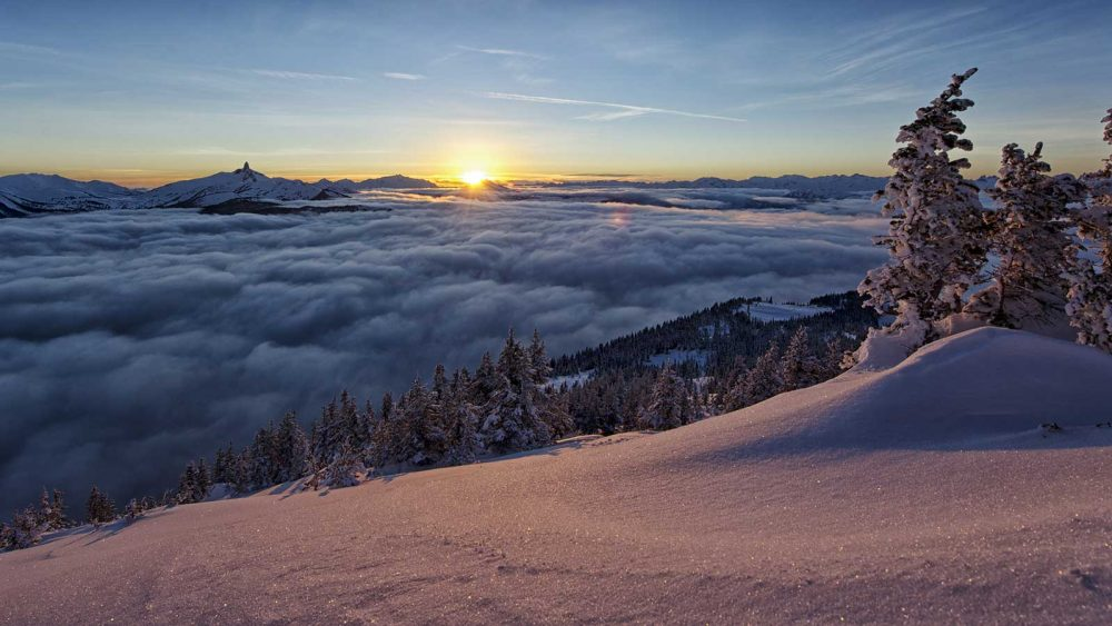 High above the clouds at Whistler Blackcomb. Photo by David McColm.