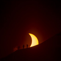 Chris Cody Brodie (Chris Rubens, Cody Townsend, Brody Leven - skiers will not be specifically ID'd from this shoot) Svalbard Solar eclipse, march 20 2015