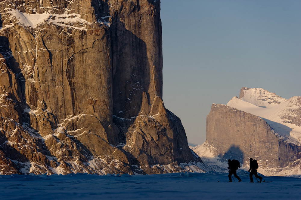 Jamie Bond and Chad Sayers in Walker Arm (Sam Ford Fjord) Baffin Island, Canada
