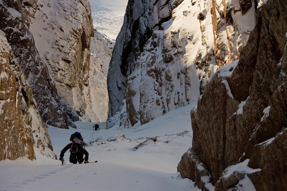 Chad Sayers and Jamie Bond in the Steward Valley, Baffin Island, Canada