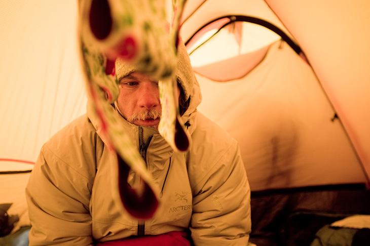 Chad Sayers on Baffin Island, Canada