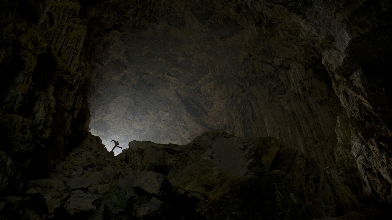 French caving expedition in Fengshan, China, Guangxi province, 2014.