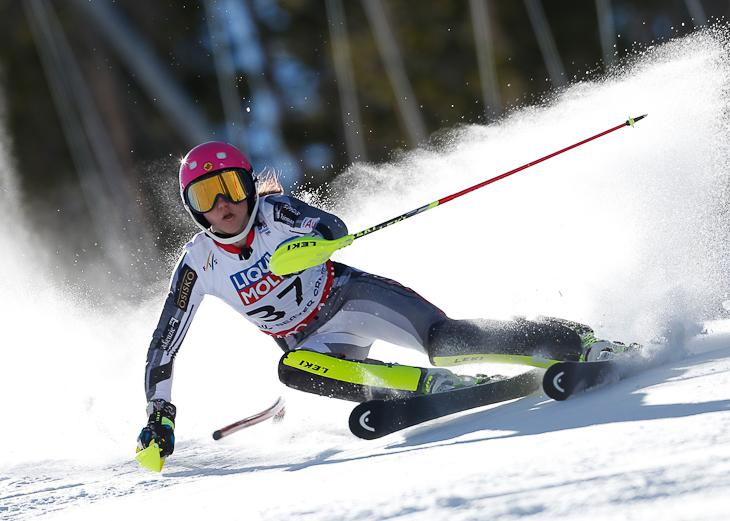 Ski World Championship Vail Beaver Creek 2015-- Candace Crawford (CAN) in slalom. Beaver Creek (USA) February 14 2015 (Photo/ Marco Trovati-Pentaphoto)