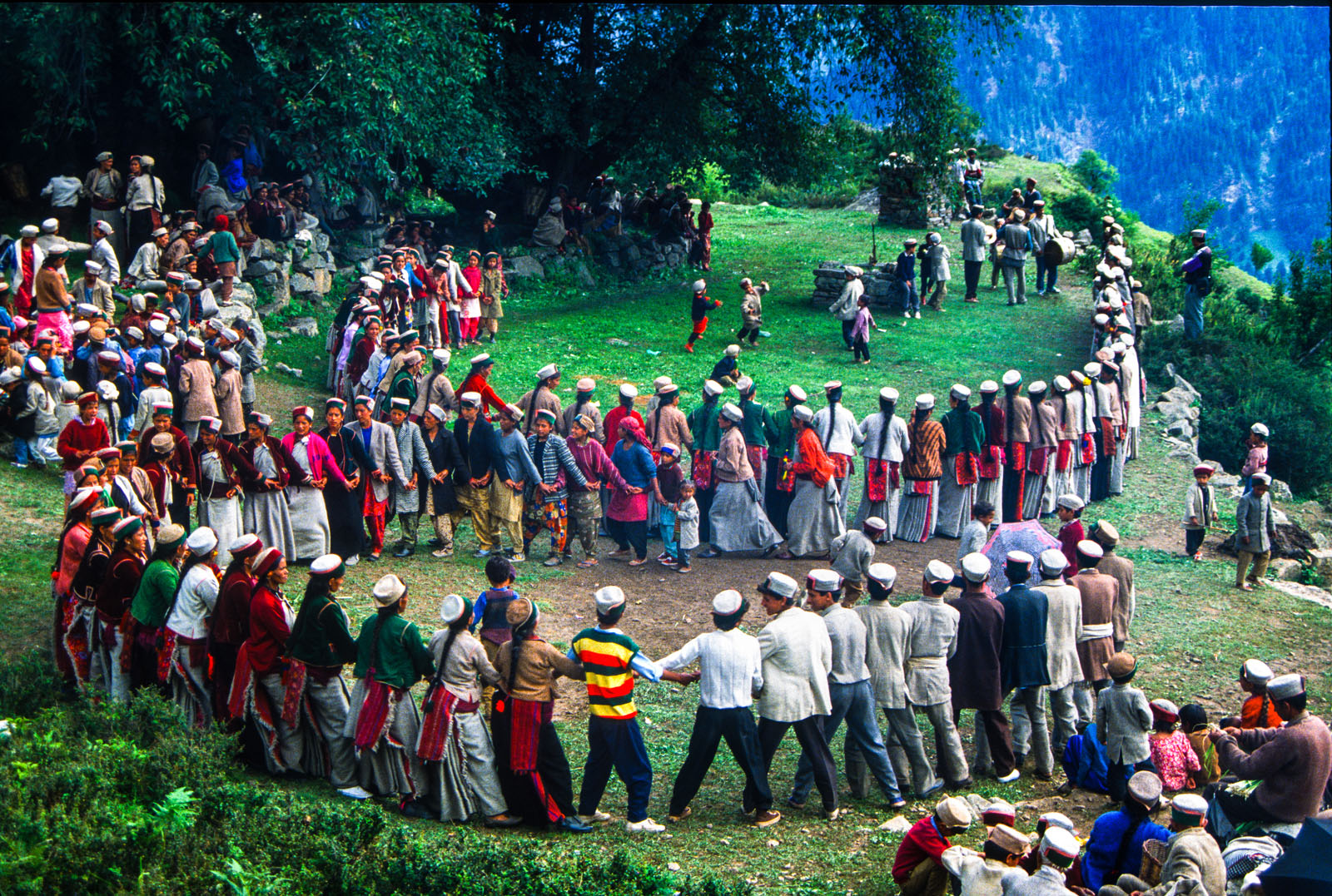 Phulaich Festival, celebrated at Kinnaur District of Himachal Pradesh annually in September, is a festival of flowers. India. 1993.