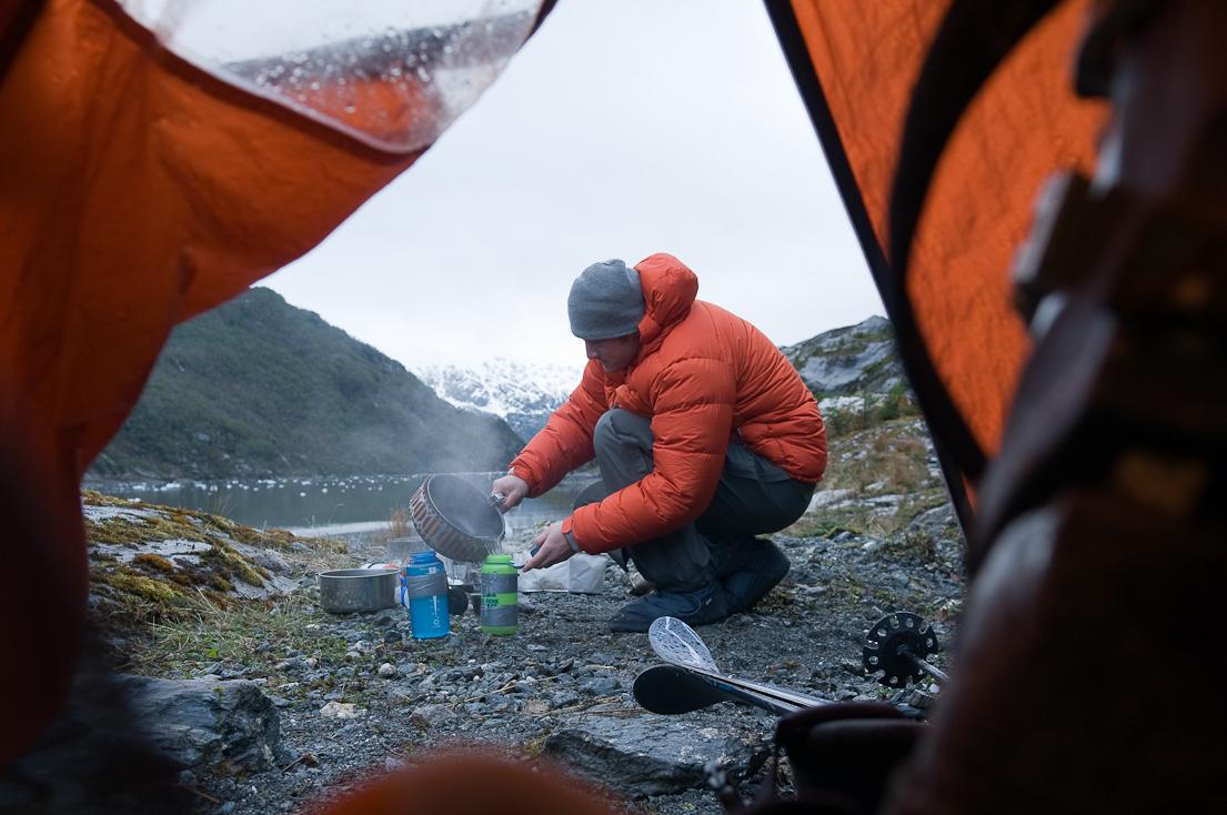 Cold-weather camping in Cordillera Darwin, Tierra del Fuego, Argentina. KARI MEDIG PHOTO, COURTESY MEC.