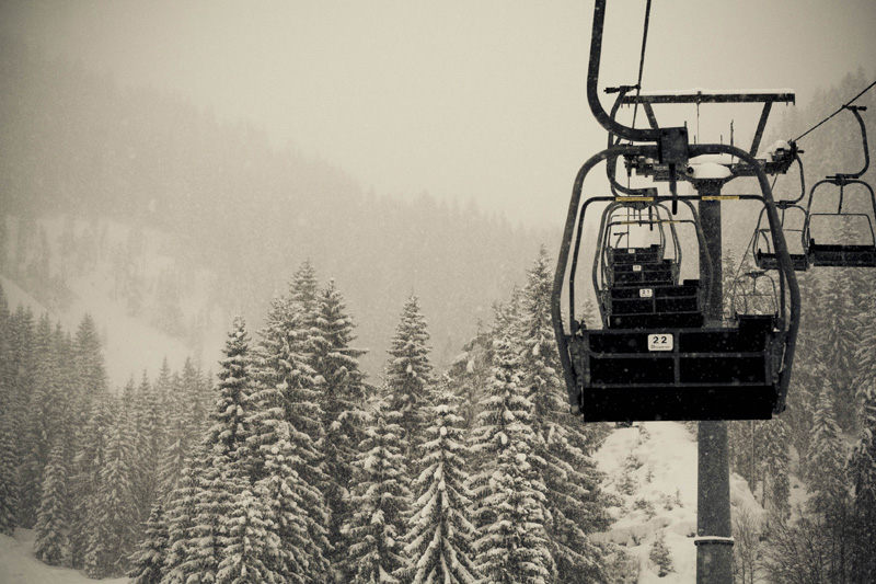 Empty-chair-lift