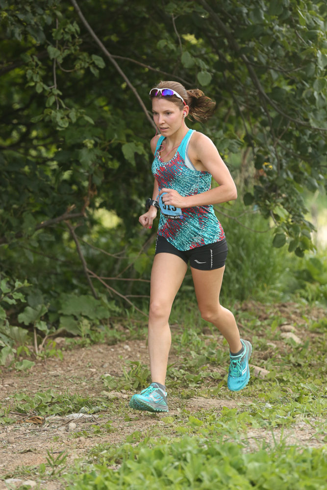 Mindy Fleming running the Endurance Challenge. Courtesy Ultra Race Photos.