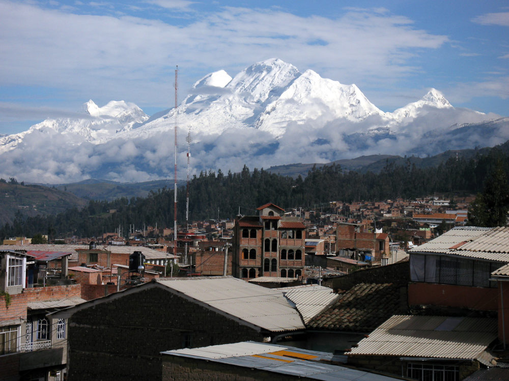 Huaraz. Via Wikimedia Commons.