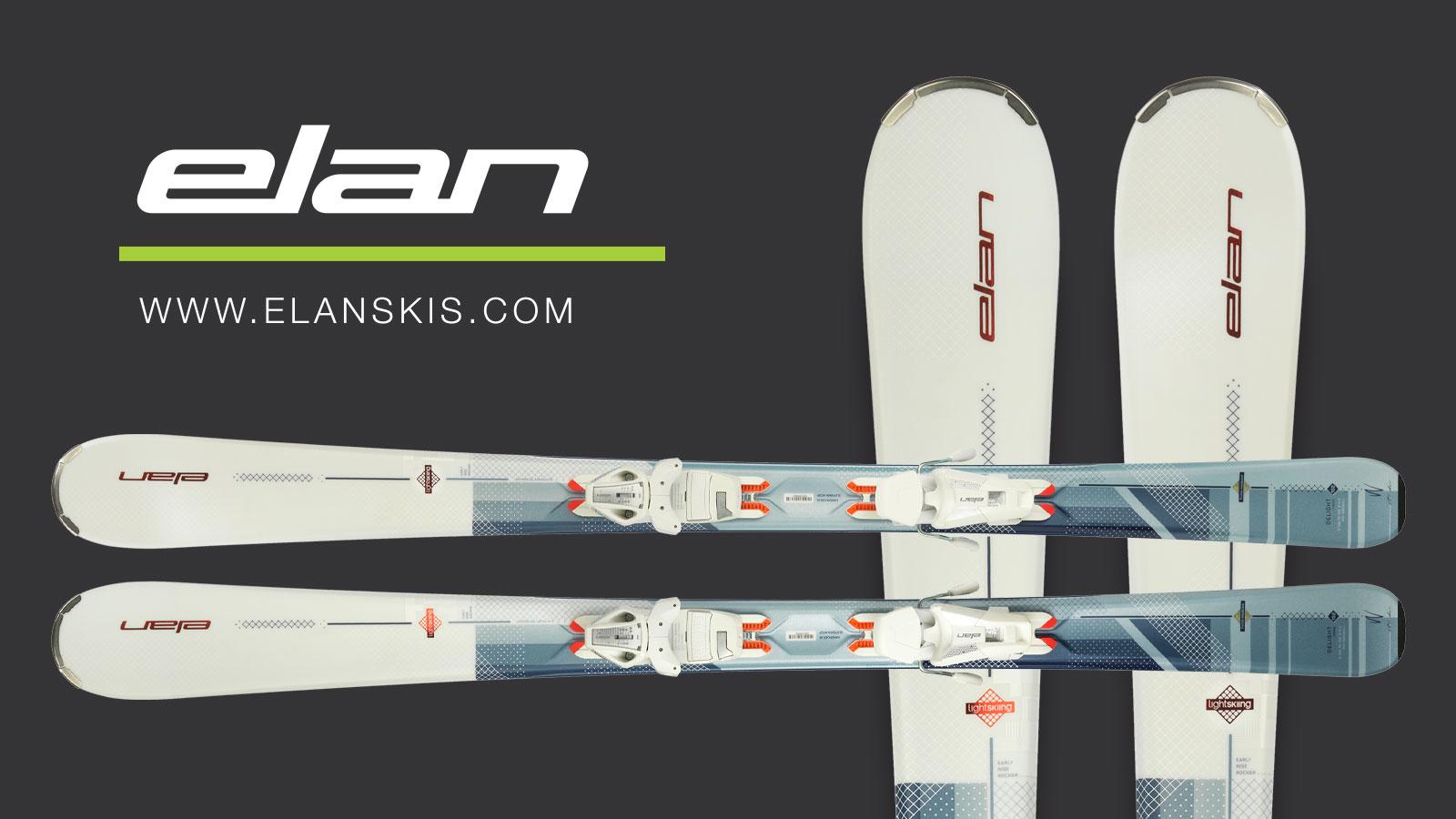 win a pair of elan delight prime women's skis with mountain life and elan skis