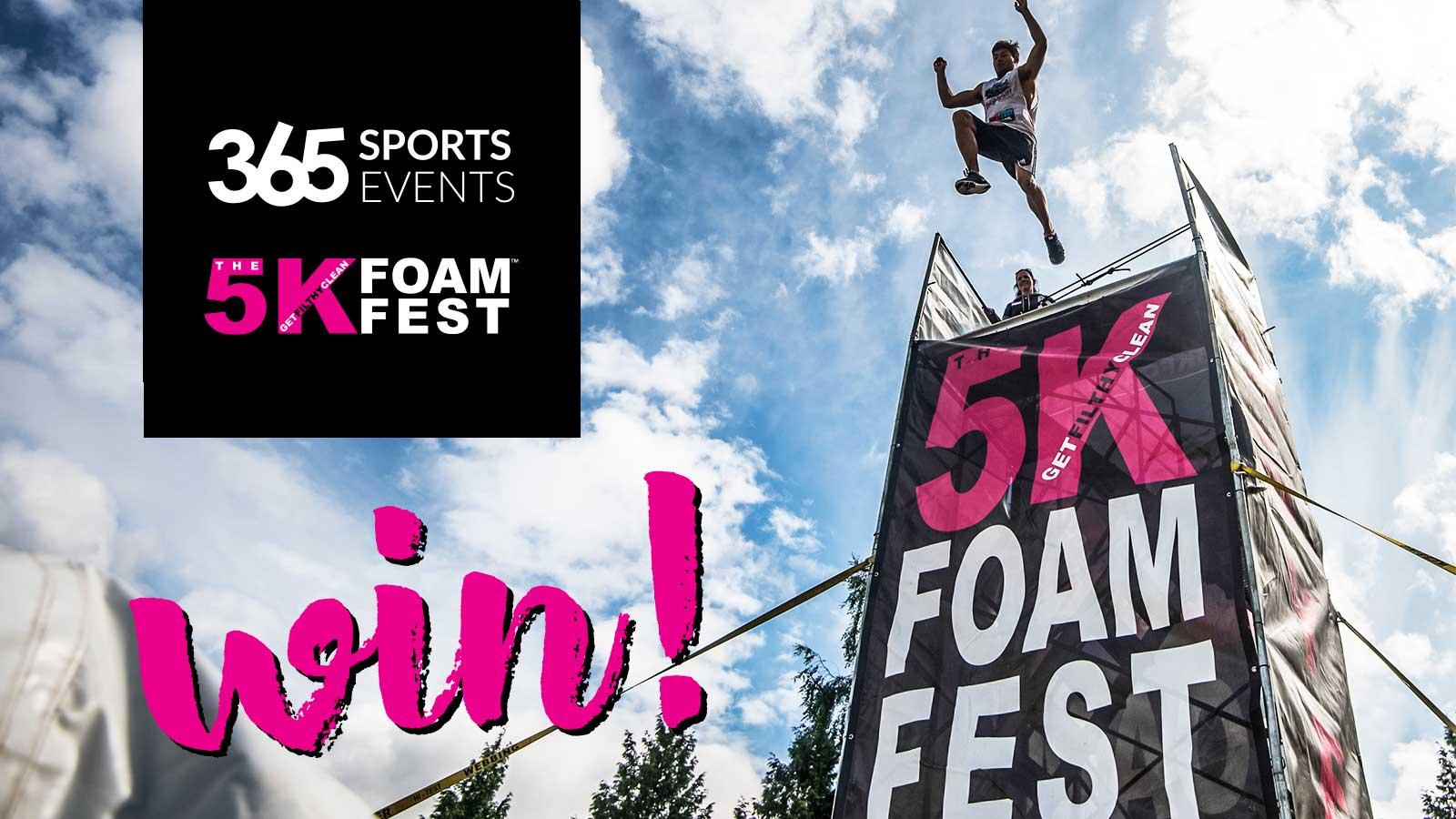 mountain life win tickets 5k foam fest sun peaks