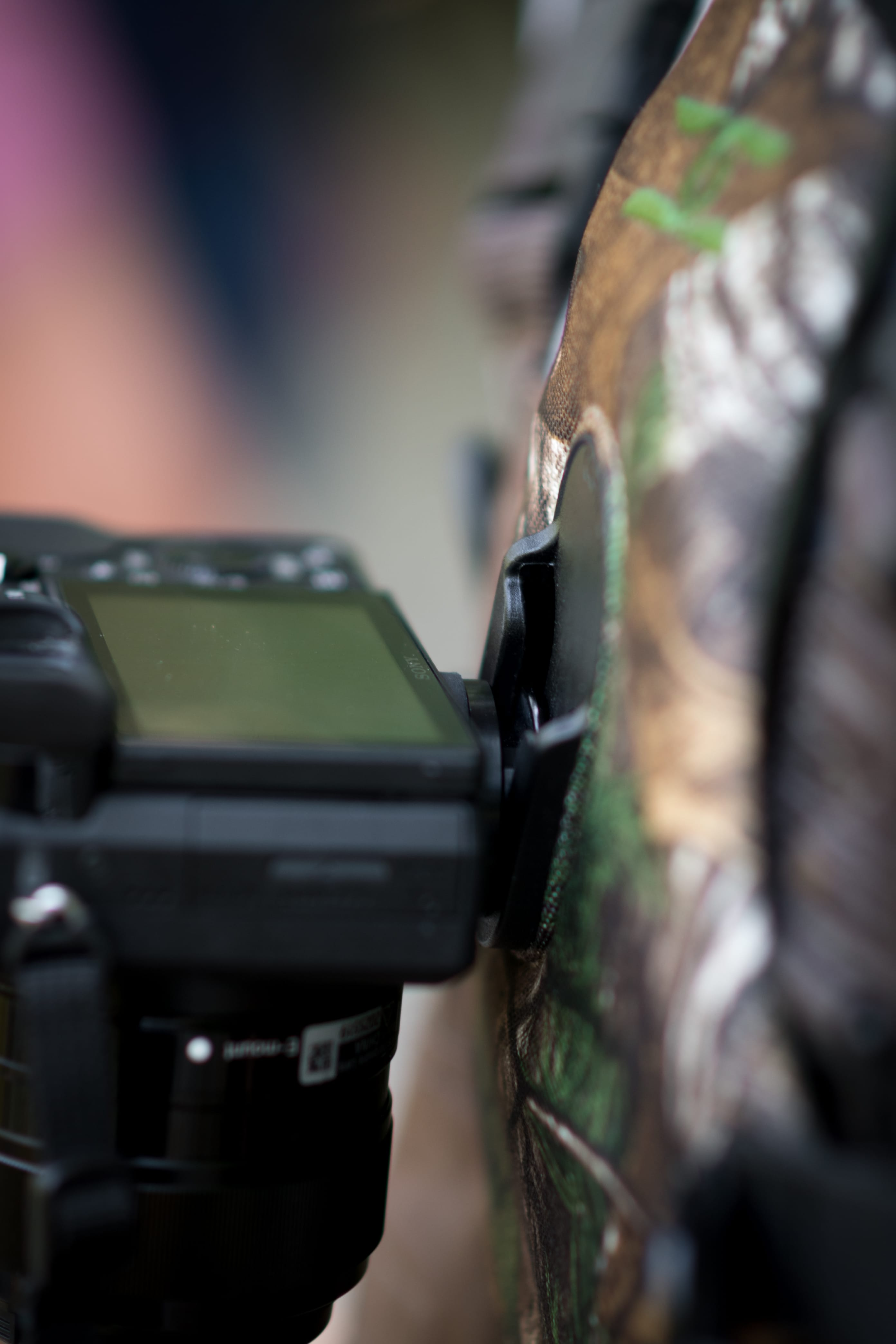 Camera holster system on chest