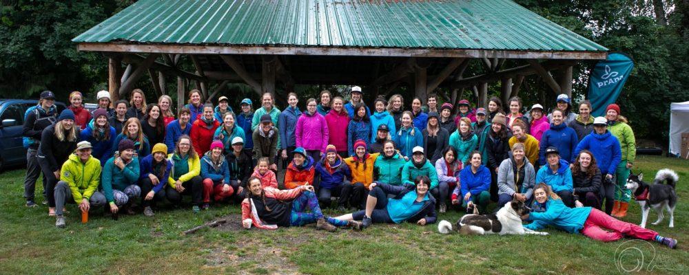 Attendees of the Treeline Women's Climbing Festival