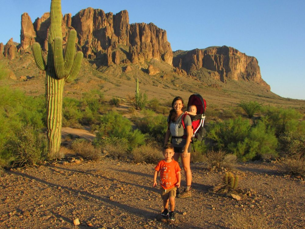 Brittany Donnelly and kids Exploring Lost Dutchman Park, AZ