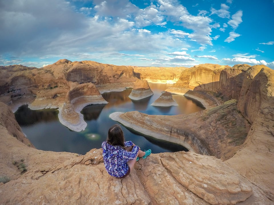 Corry Bondini Looking over Reflection Canyon in Utah