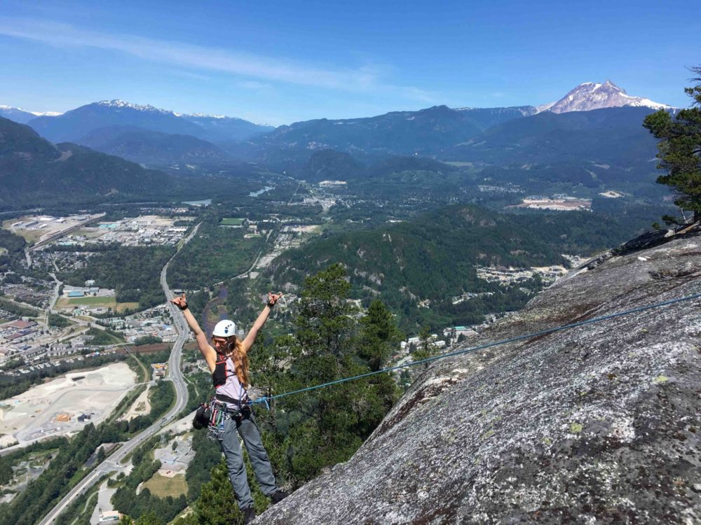 On top of the Chief in Squamish