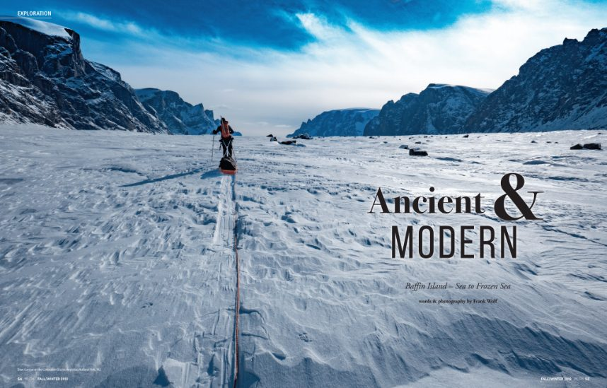 Adventurer Frank Wolf discovers the precarious and interesting balance between the traditional and nw worlds while on a long cold walk across Baffin Island