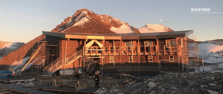 Spearhead hut Whistler contruction