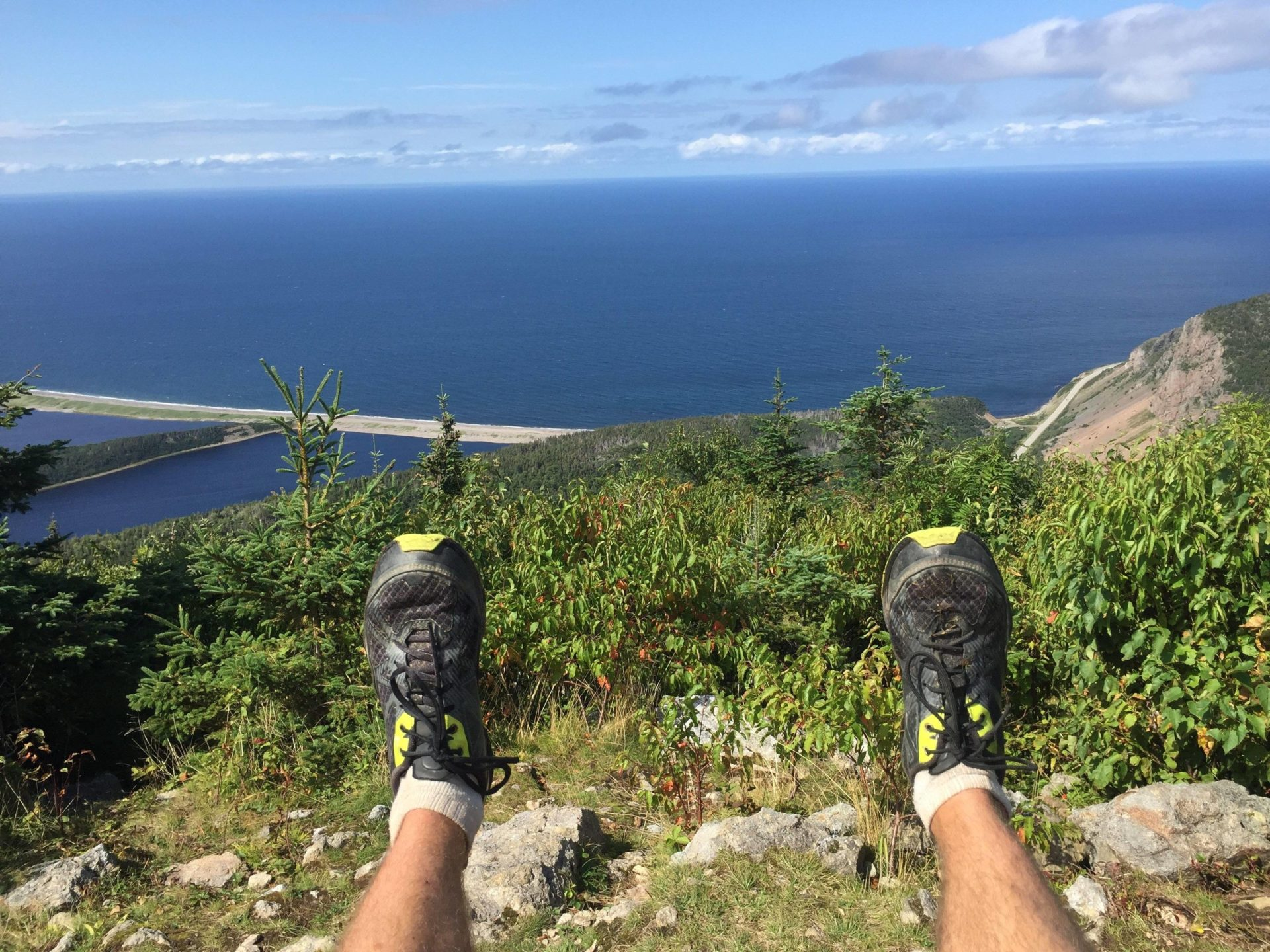 Vast Atlantic viewpoint atop a Cape Breton Island hike.