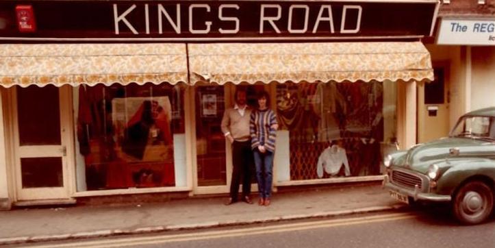 Old Kelly jean store on Kings Road, UK