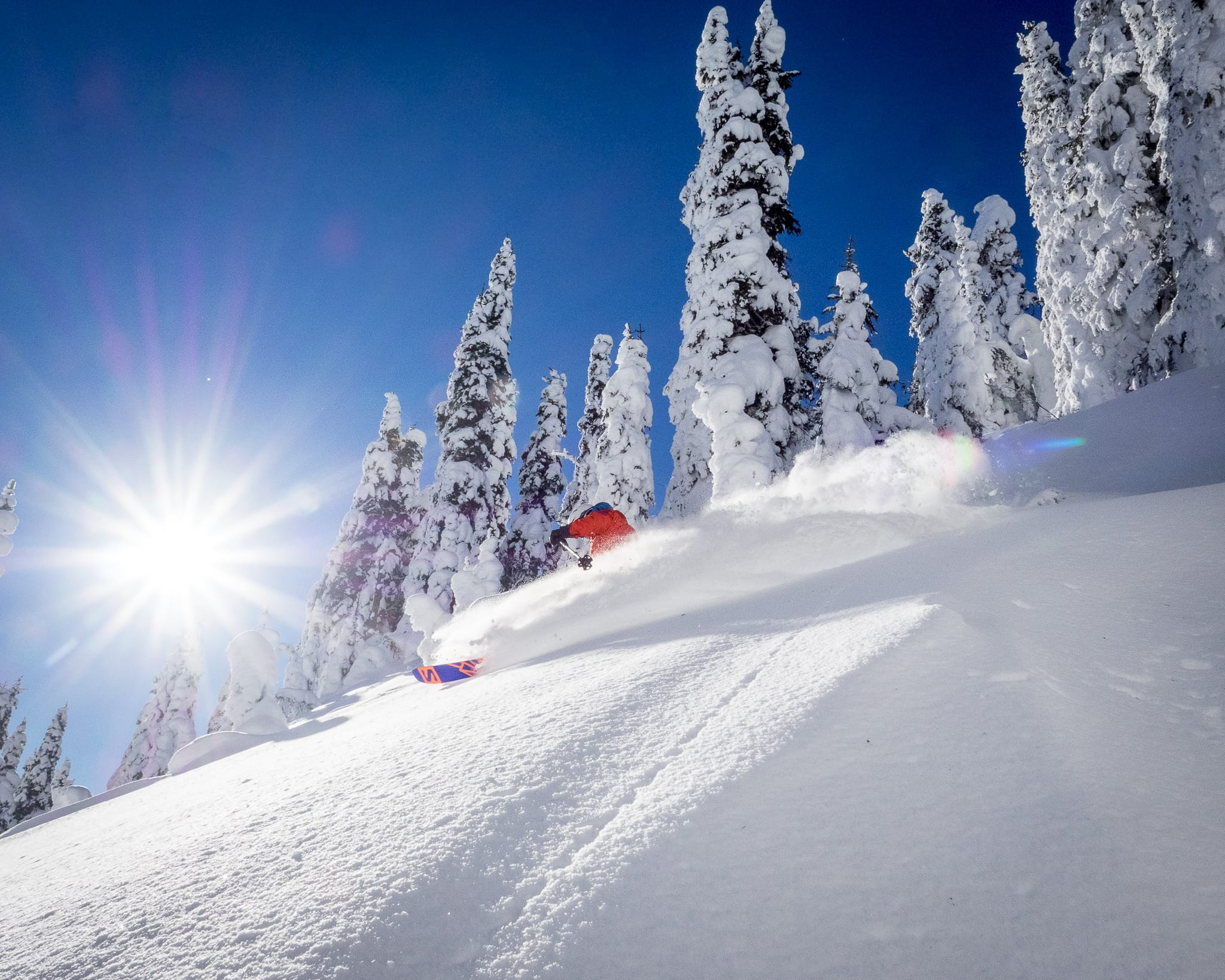 Skiing at Red Mountain Resort for Destination BC