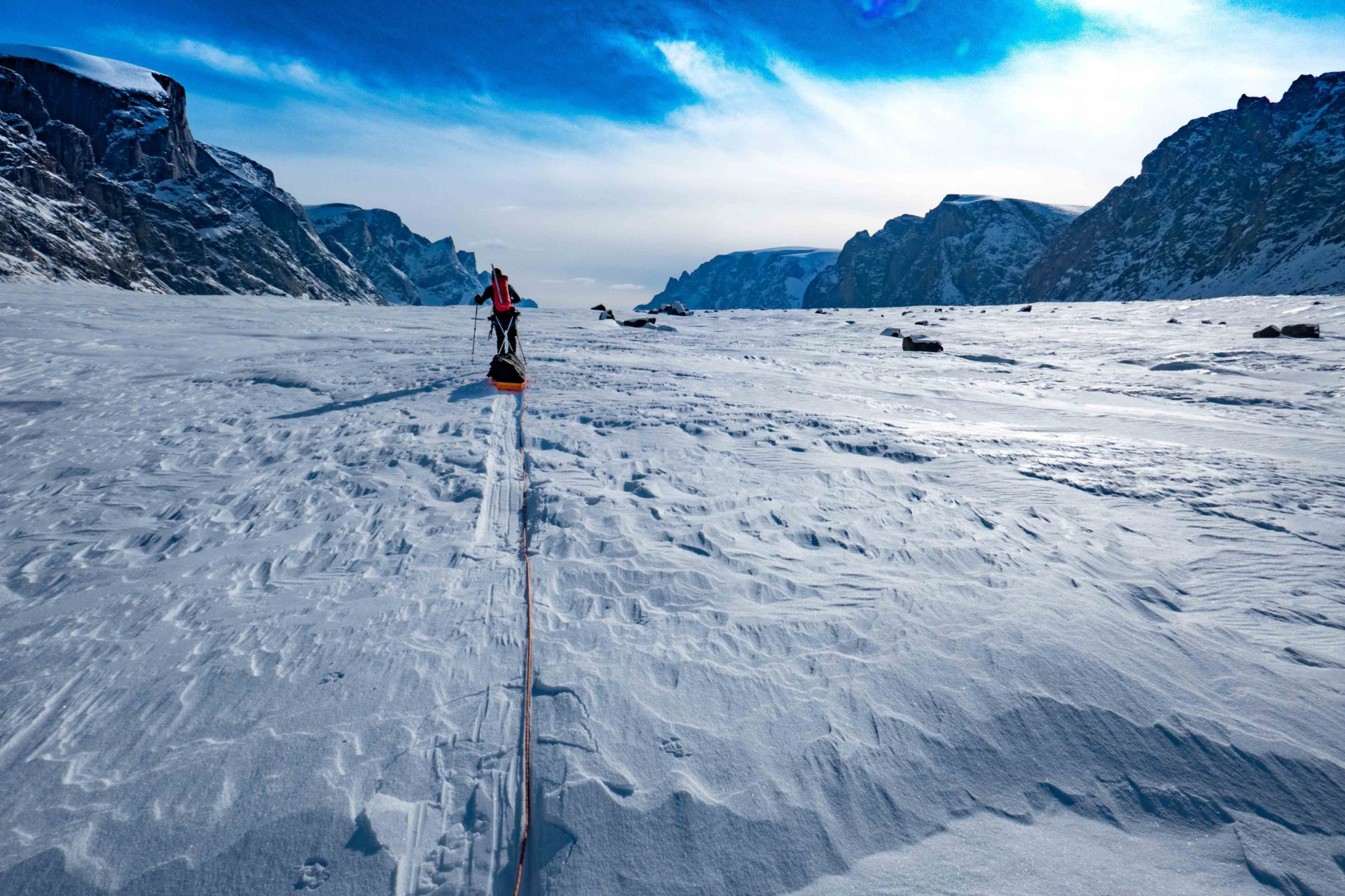 Pulling sleds in Baffin